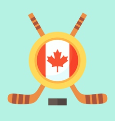 Hockey in canada vector