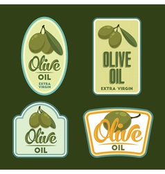 Set of olive oil badges vector