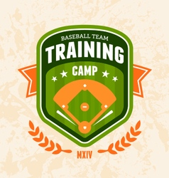 Baseball camp emblem vector