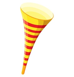 Party horn in yellow color vector