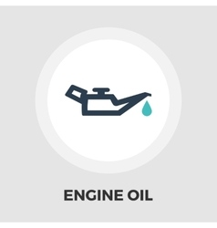 Engine oil flat icon vector