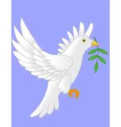 Dove flying cartoon vector
