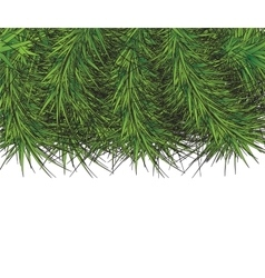 Border of new year branch of pine vector