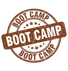 Boot camp stamp vector