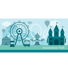 Amusement Park Mono Color vector image