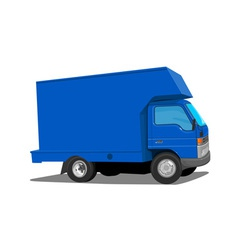 Blue truck movers vector