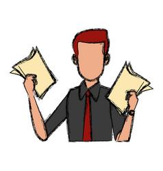 Businessman executive cartoon vector