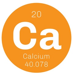 Calcium chemical element vector