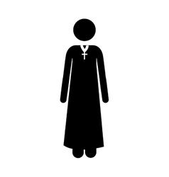 Catholic priest icon image vector