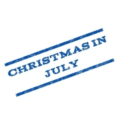 Christmas in july watermark stamp vector