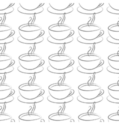 coffee cup seamless vector image vector image