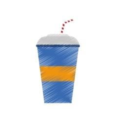 Cold soda cup vector image vector image