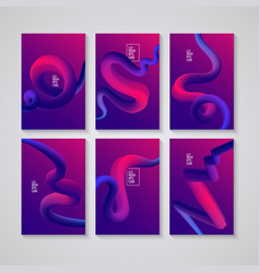 cover design liquid colorful shapes backgrounds vector image vector image