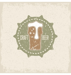 Craft beer concept grunge label with needle and vector