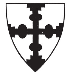 Cross nowed degraded and conjoined means placed vector