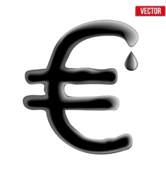 Currency euro in oil texture vector image