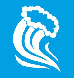 Foamy splash icon white vector