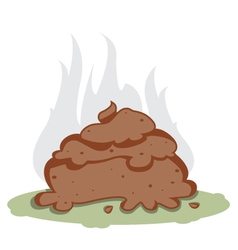 funny poo vector image
