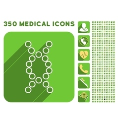 Genome icon and medical longshadow icon set vector