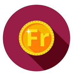gold coin The flat style vector image vector image