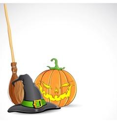 Halloween Pumpmik vector image vector image