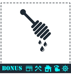 Honey icon flat vector image