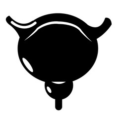 human bladder icon simple style vector image