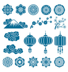 japanese and chinese asian motif decor vector image