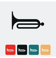klaxon icon vector image