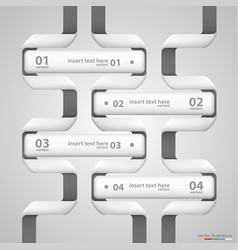 list of options nfographics tape art info vector image vector image