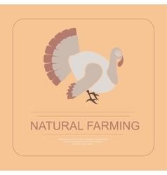 Logotype of natural farming vector