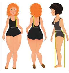 Measuring woman body vector image vector image
