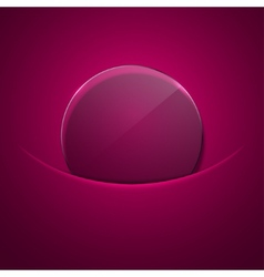 modern circle glass background vector image