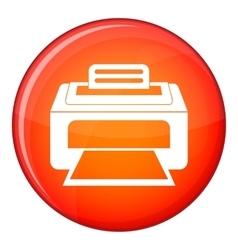 Modern laser printer icon flat style vector