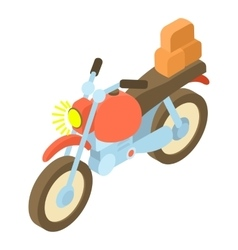 Motorcycle with cargo icon isometric 3d style vector