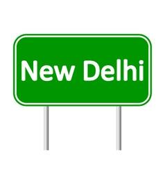 New delhi road sign vector
