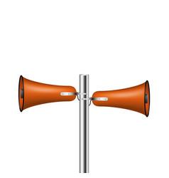 old loudspeaker system in dark orange design vector image vector image