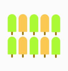 Pettren ice cream greentea and orenge icon vector
