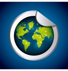 Planet icon Sticker design graphic vector image vector image