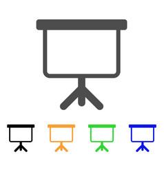 projection board icon vector image