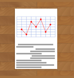 Red line chart vector