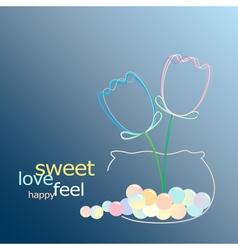sweet glow flower vector image vector image