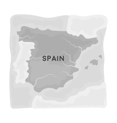 Territory of spain icon in monochrome style vector