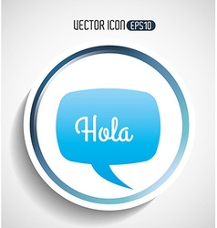 Text balloon design vector