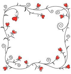 Valentine heart border vector