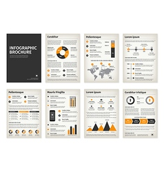 Vintage business a4 brochures with infographic vector