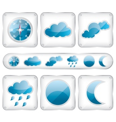 Weather glass icons vector image
