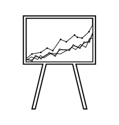 Arrow growth graphic icon vector