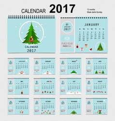 2017 calendar planner design template set of 12 vector