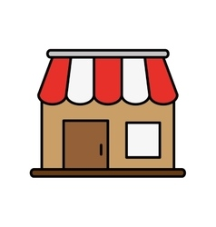 Commerce store icon vector